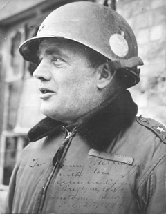 General Anthony McAuliffe - Acting American Commander of 101st Airborne during the German siege of Bastogne (Battle of the Bulge).