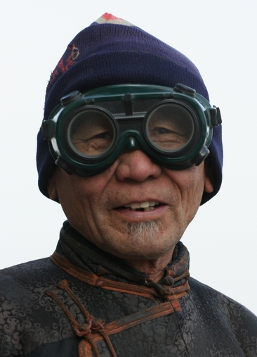 A Mongolian Camel Polo Player in the Gobi Desert -- a fine place to use Nut Powder